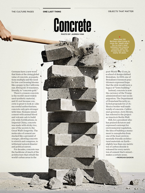jarren vink pacific standard magazine concrete block still life morgan baskin
