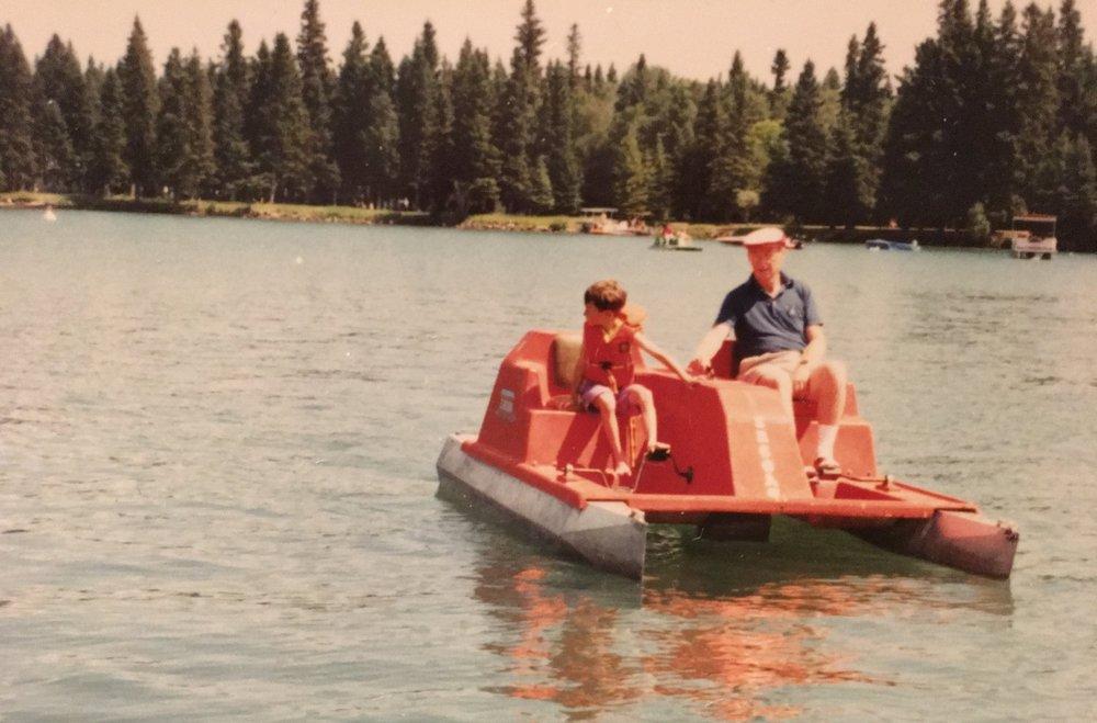 Grandpa Paddleboat.JPG