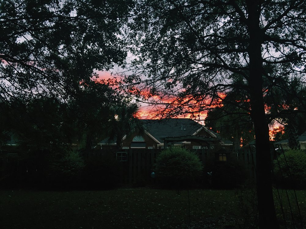 Hurricane sunsets.