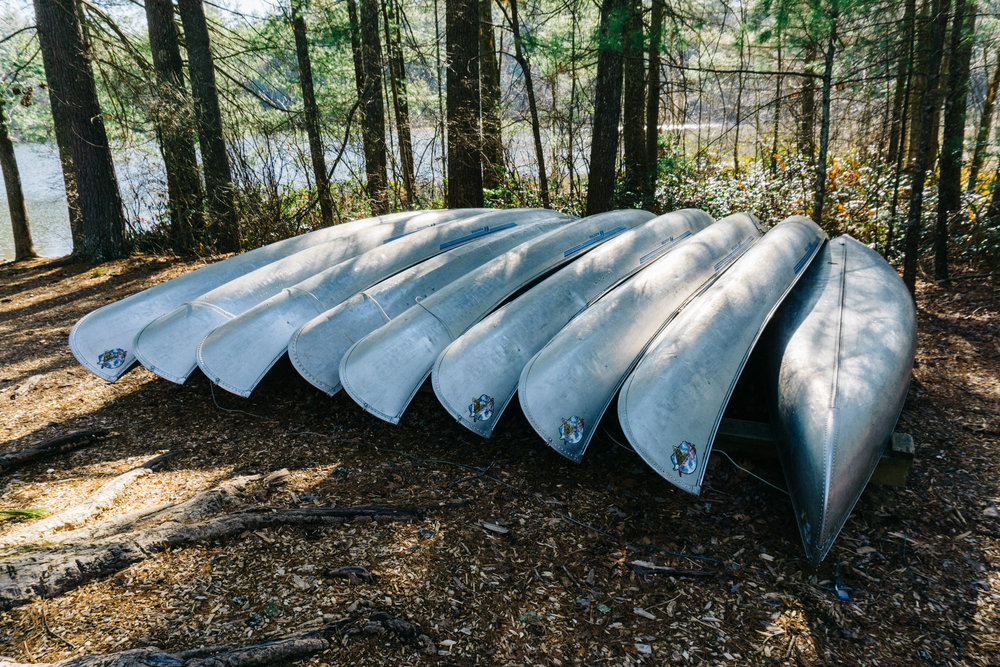 Canoes at Lake Kanuga