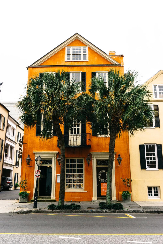 Orange Building Broad Street Charleston