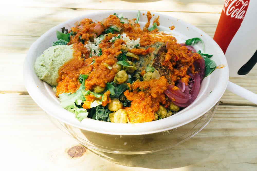 Olilo falafel grain bowl