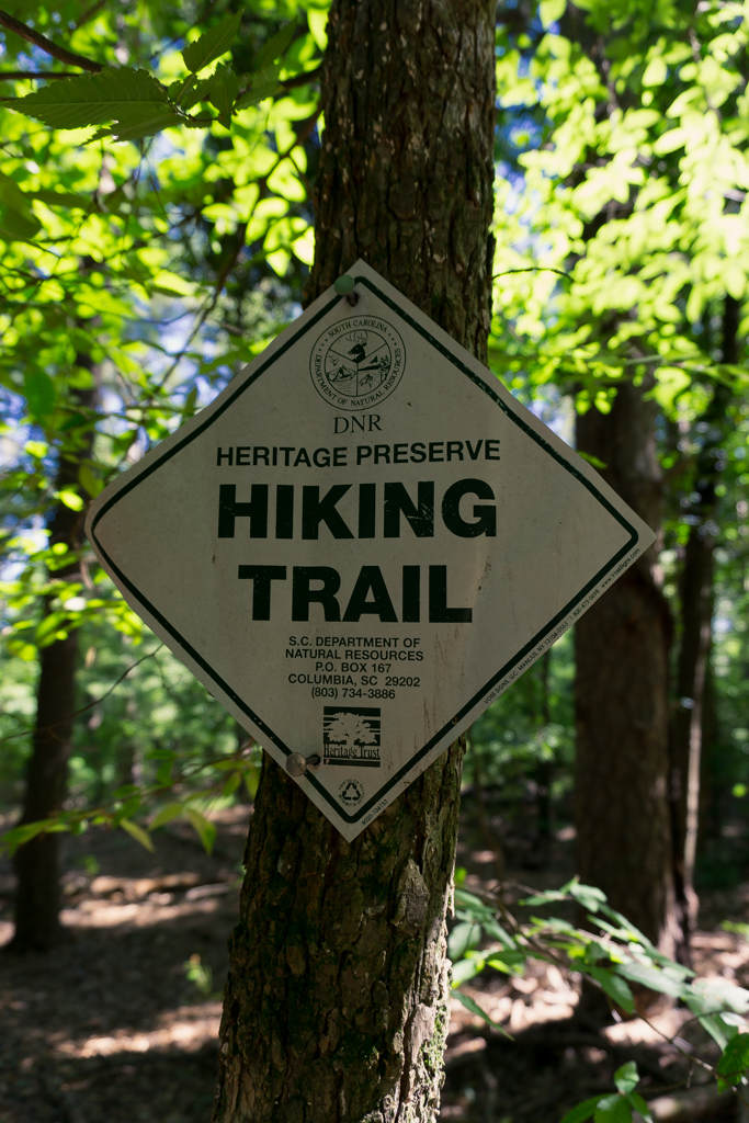 DNR Heritage Preserve Hiking Trail sign