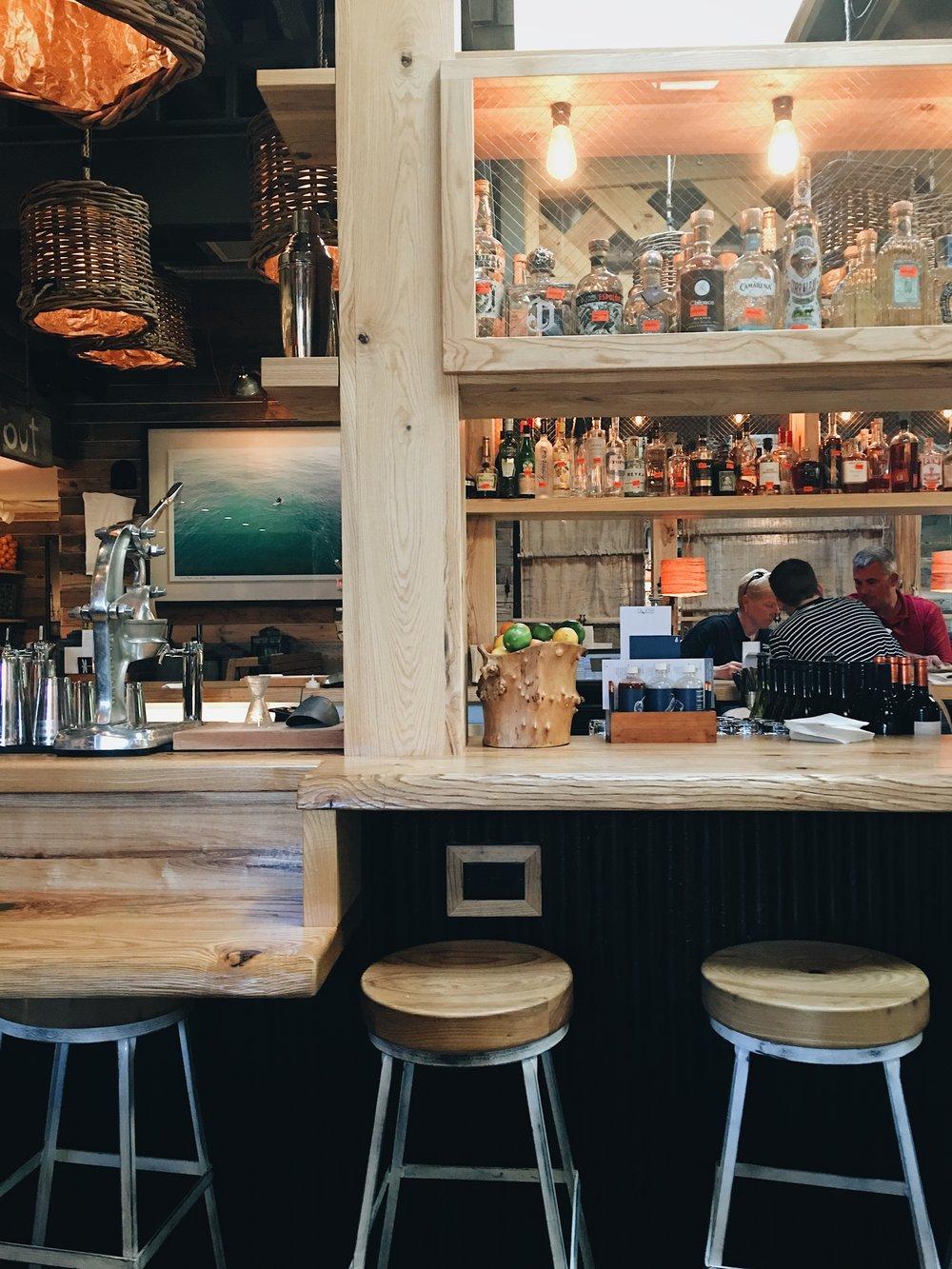 Bartaco Biltmore in Asheville, NC bar area