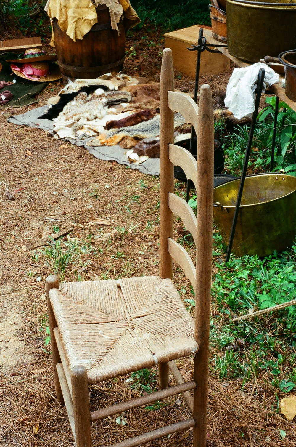 Old chair at the living history park