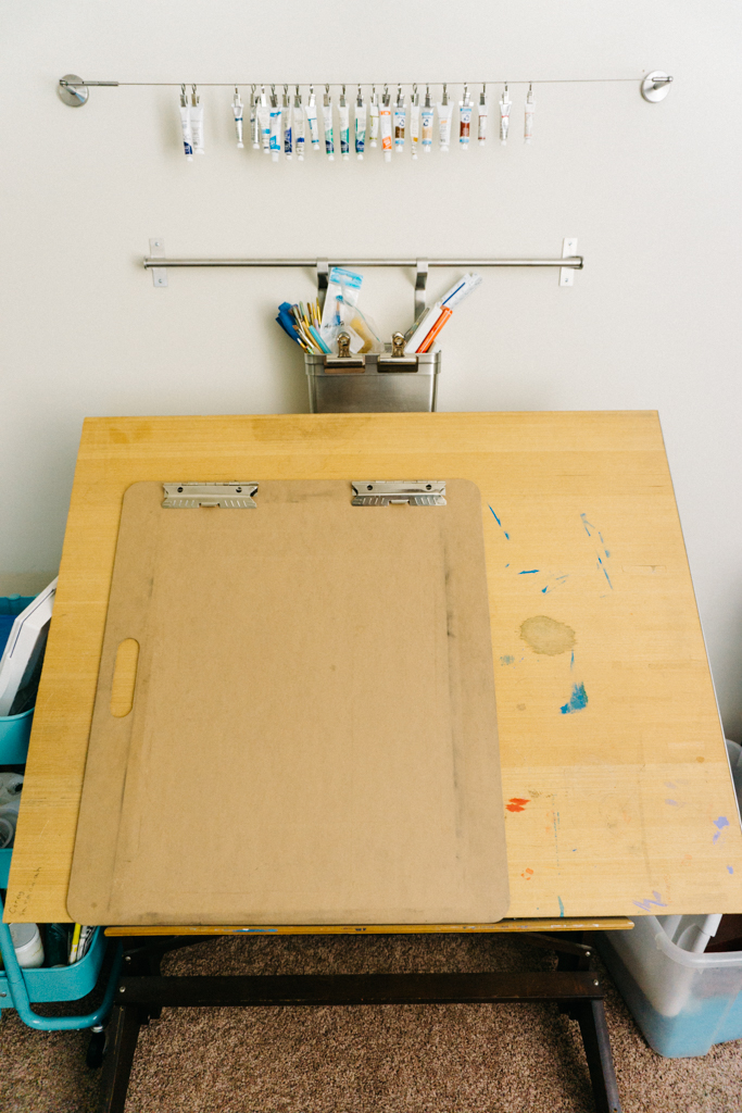 Drafting Table with Ikea Grundstal