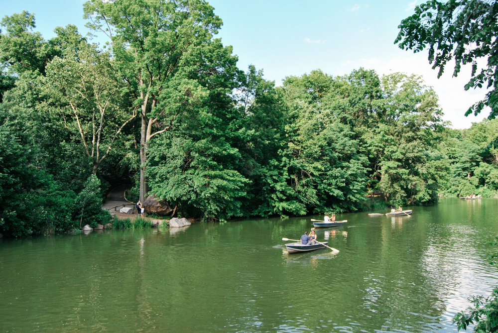 Boaters in Central Park