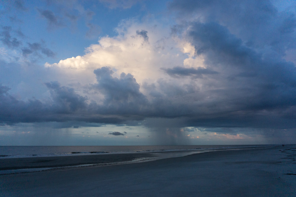 Rainclouds off the coast of Hilton Head Island