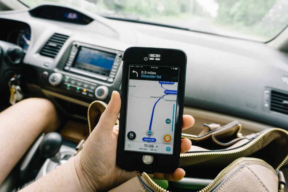 Waze App on iPhone