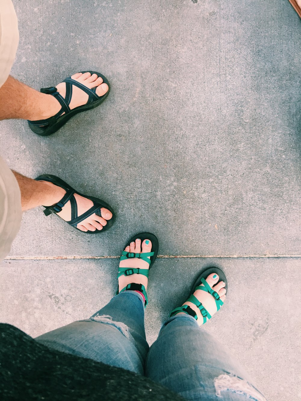Chacos and Teva sandals