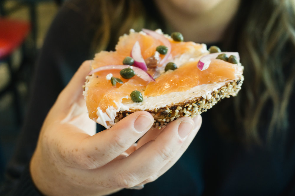 Lox and Bagels from Hammond's Ferry Larder in North Augusta, SC