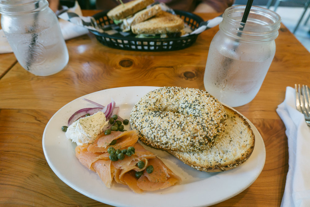 Lox Bagel at Hammonds Ferry Larder in North Augusta