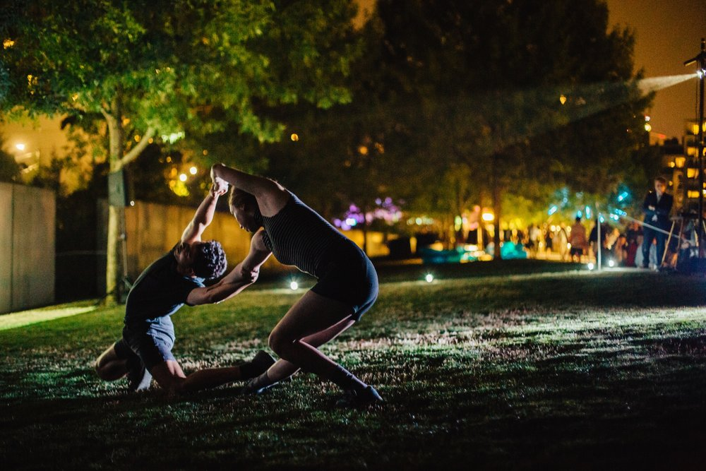Transformative Worlds | SAM Remix - SAM Olympic Sculpture Park | August 2017A collaboration with dancer Tariq Mitri and multimedia artist Reilly Donovan for a performance inspired by the visual and performative work of Yayoi Kusama.Photo by: Jen Au