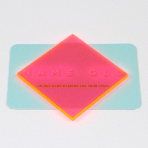 florescent pink plexi on card.jpg