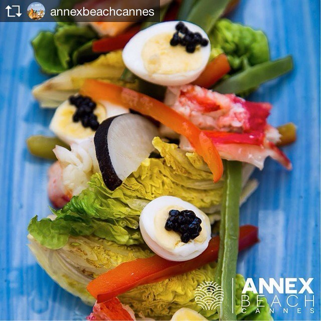 Repost from @annexbeachcannes THE CHEF SELECTION: niçoise of King crab and caviar Oscietra #cannes #cannes2017 #croisettecannes #summer2017 #fromlunchtodinner #lunch #dinner #finefood #nuartevents #beachclub #beachrestaurant #annexbeachcannes
