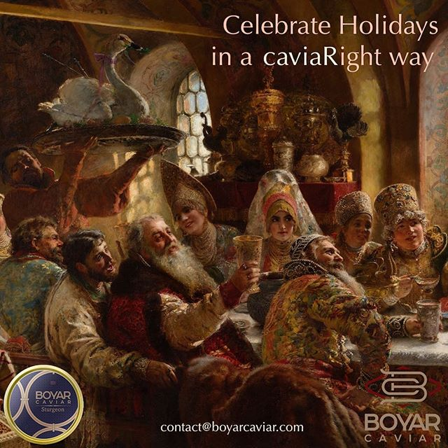 We wish you a Merry Christmas and hope you are having a wonderful holiday season!!! Make it superb with #boyarcaviar