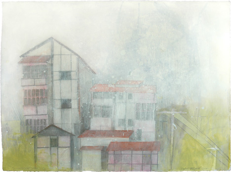 """A Chinese Ghost Story , mixed media on paper 22""""x30"""", 2006 (sold)"""