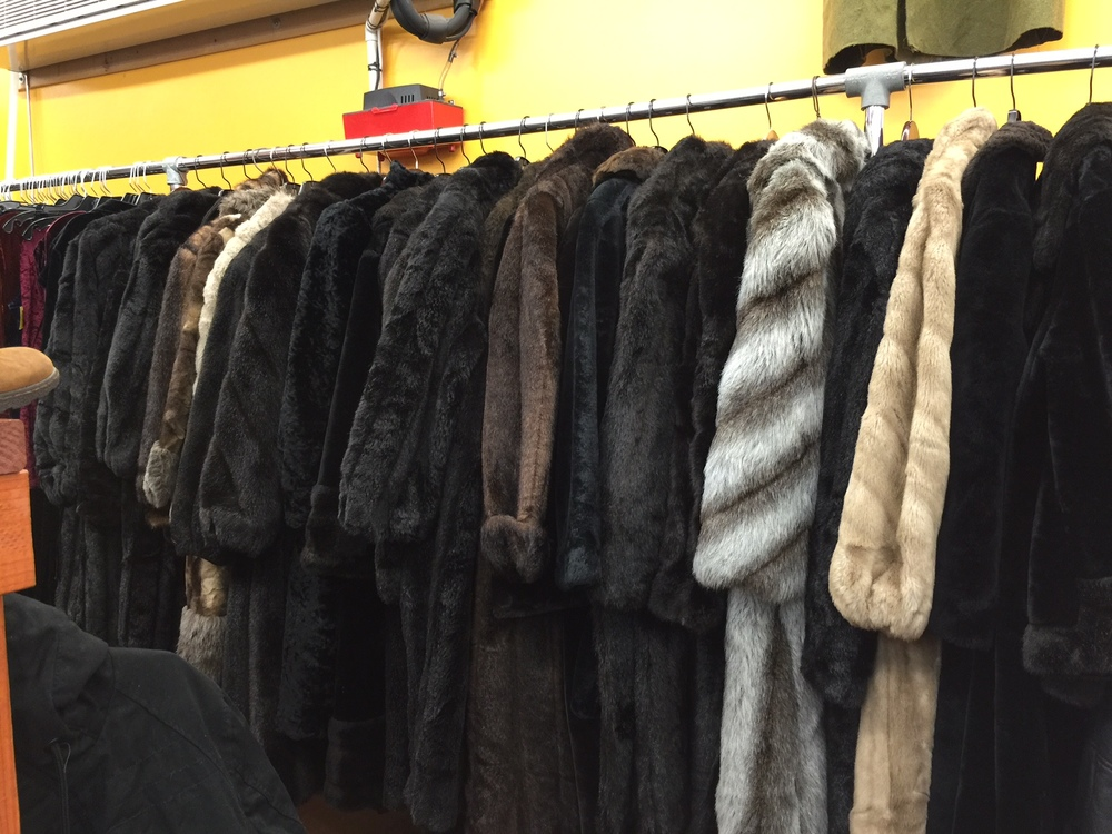 I was obsessed with every fur in here! The prices ranged from $25 and up. The most expensive one I saw was $200 .