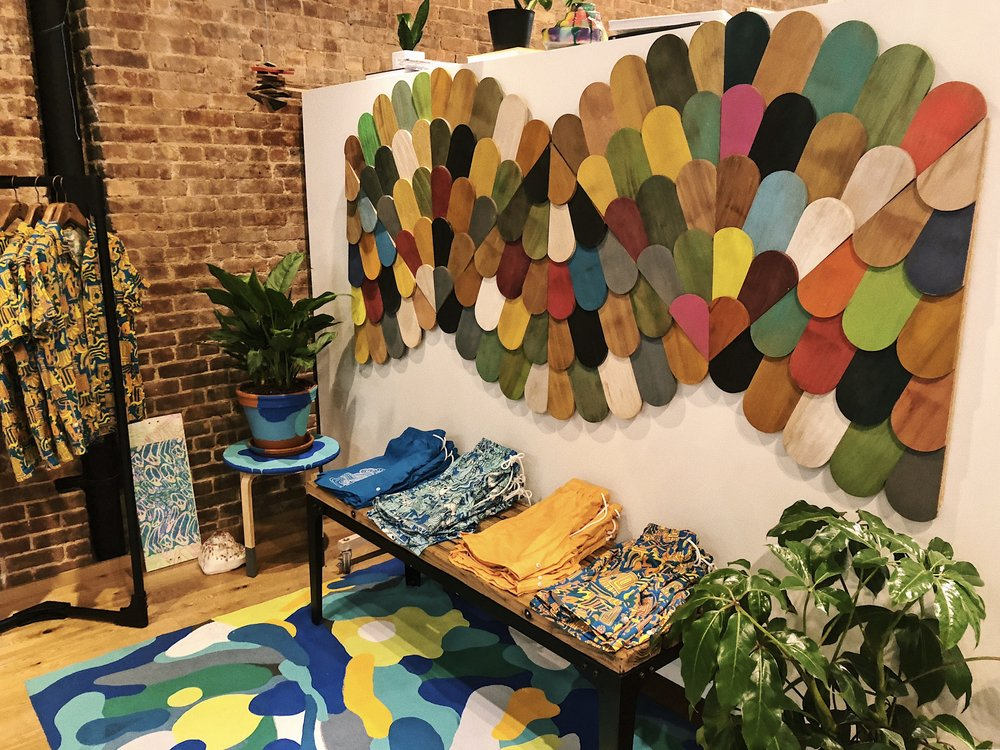 Mike Perry installed such a cool set up at the store! Check it out over at 71 Greene Street!