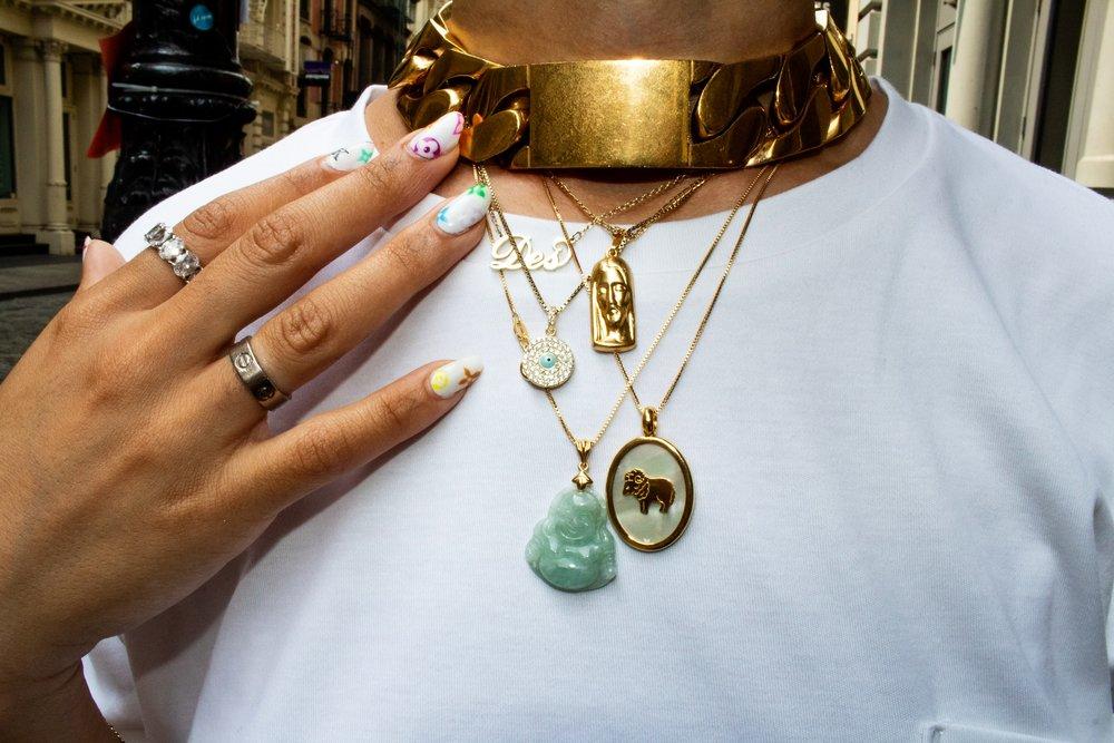 I clearly like to mix up jewels too! Celine, Lolita Yang, custom buddha.. it goes on!
