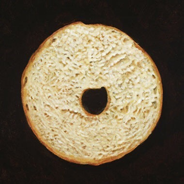 "SLICED BAGEL 12""x12"""