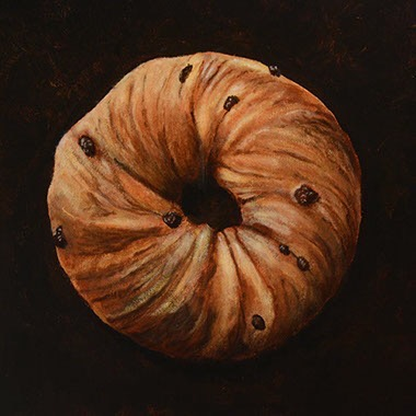 "CINNAMON RAISIN BAGEL 12""x12"""