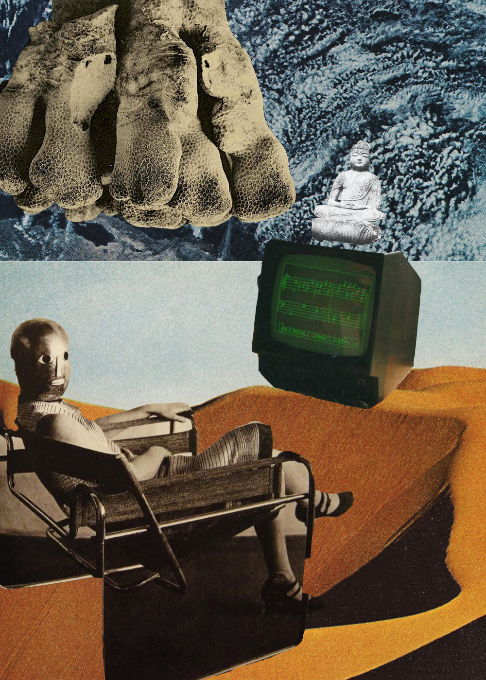 Bauhaus & Buddha [collage, 2015]