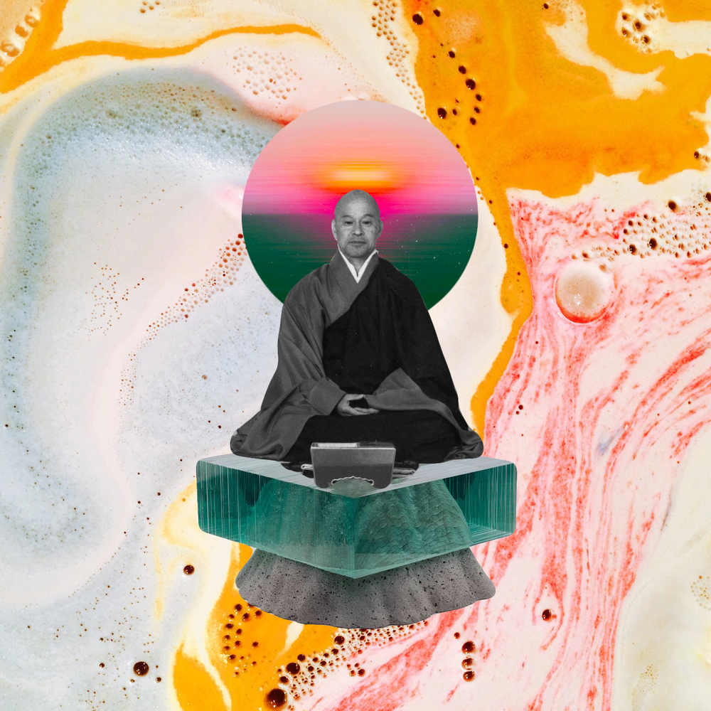 Floating Monk [collage, 2016]