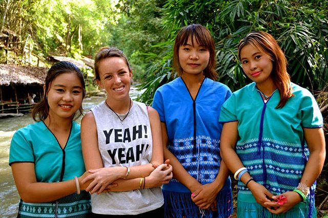 #throwbackthursday - Melanie with friends Maya, Mai, and Loki. When she first began working internationally, Melanie began in southeast Asia working with an NGO in Mae Wang, Thailand. In this organization women  were given an opportunity for a safer life with greater independent opportunities. Burmese refugee women are not only socially marginalized in Thailand but also substantially at risk, and often victims, of labor and sex trafficking among other human rights violations. The first time Melanie met Mai and Maya was in the middle of the night and brought them out of that life, also opening the door for their friend Loki to join them. . #thailand #ngo #karen #burmese #myanmar #ethnicminority #humanrights #sextrafficking #laborrights #women #safety #independence #sexwork #asia #nonprofit