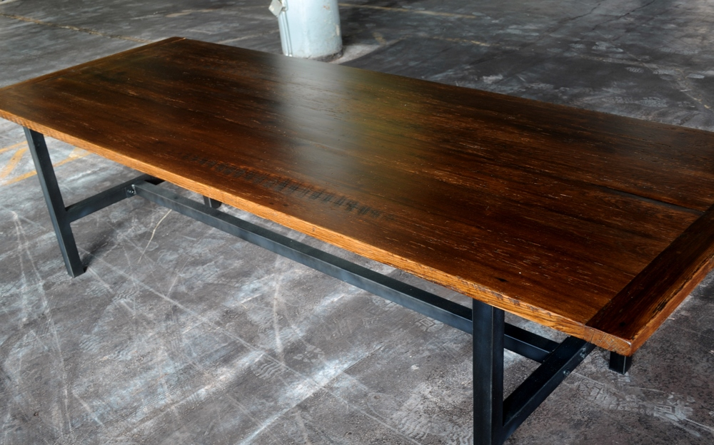The Combination Of Wood And Steel Creates A Beautiful Industrial Look That  Can Fit Into Virtually