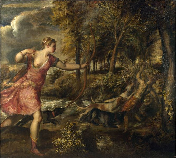 The Death of Actaeon by Titian (1559-75), National Gallery London. Source: Wikipedia