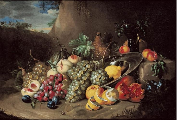 Still life by Alexander Coosemans (c. 1650), Queensland Art Gallery. Source: Wikipedia