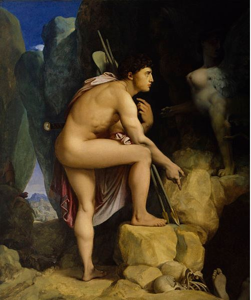 Oedipus and the Sphinx  by Jean Auguste Dominique Ingres (1808), Walters Art Museum. Source:  Wikipedia