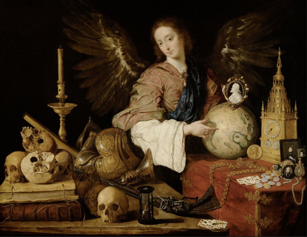 Allegory of Vanity  (1632/1636); Antonio de Pereda, Vienna Museum of Fine Arts. Source:  Wikipedia