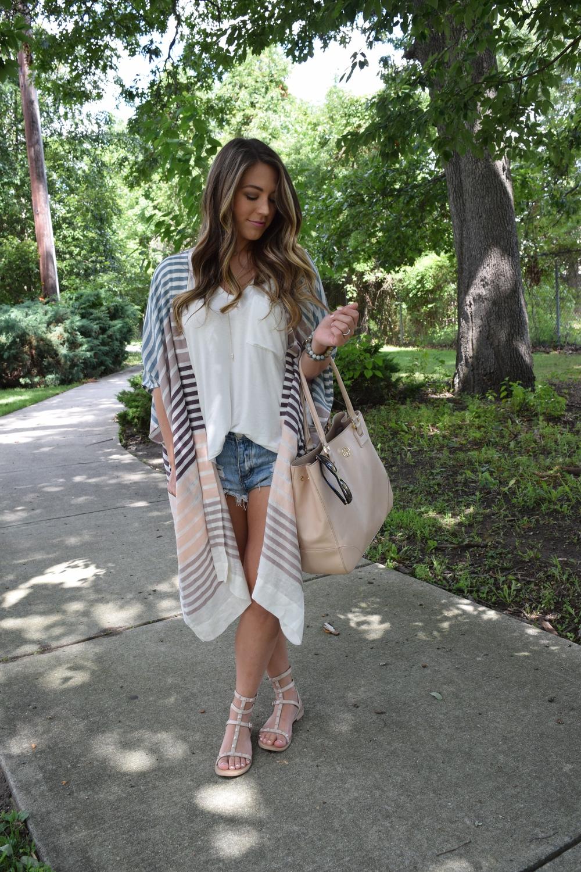 striped kimono // pinebarrenbeauty.com