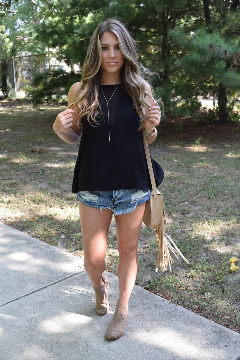 black tank & cutoffs // pinebarrenbeauty.com