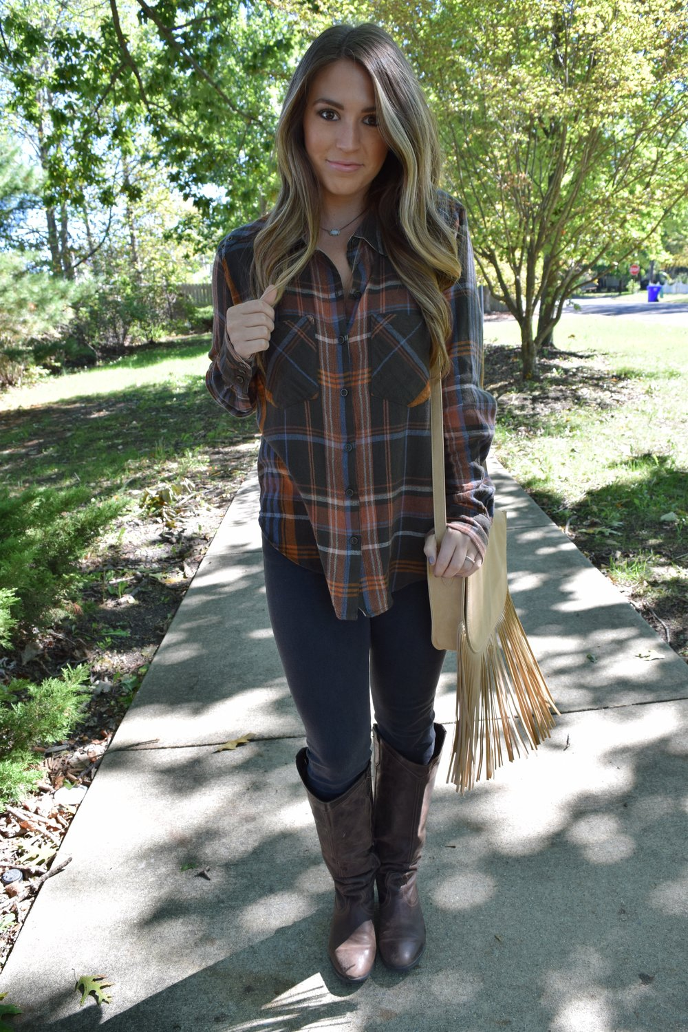 fall flannel // pinebarrenbeauty.com