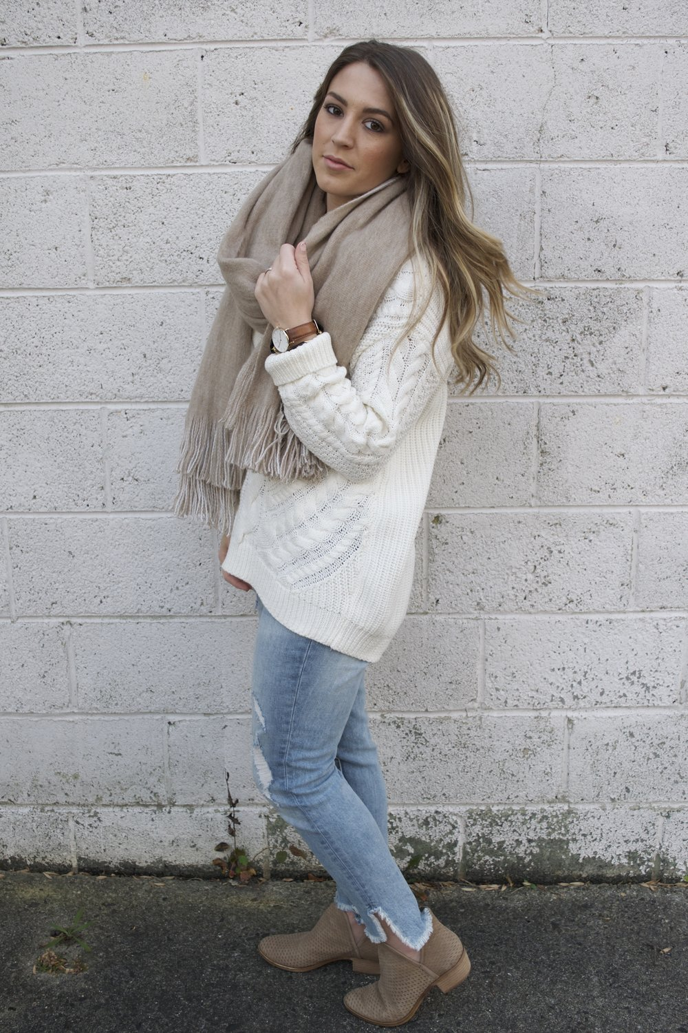 oversized scarf // pinebarrenbeauty.com
