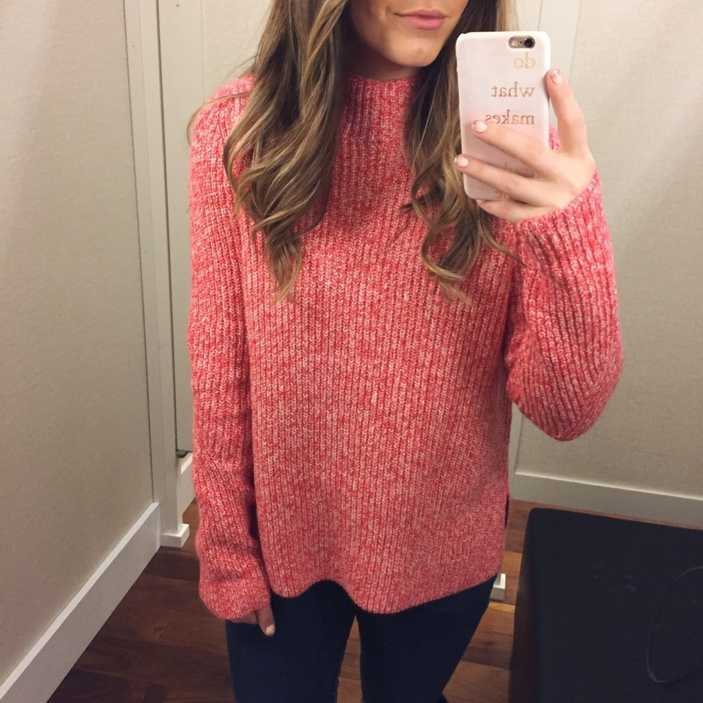 mock neck sweater // pinebarrenbeauty.com
