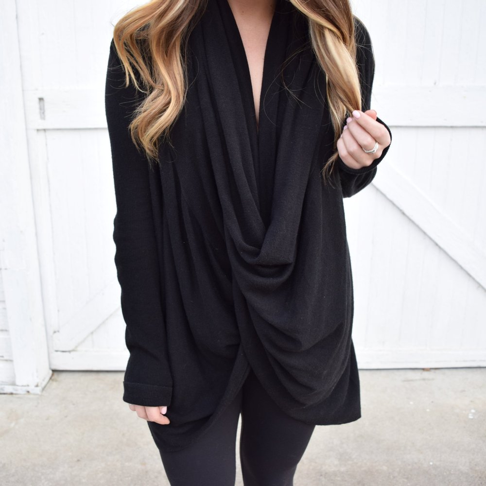 winter fashion, wrap cardigan