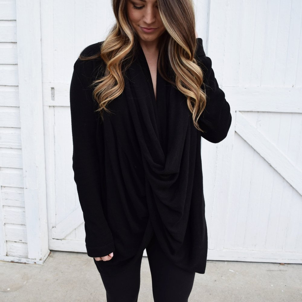 winer fashion, athleisure, wrap cardigan