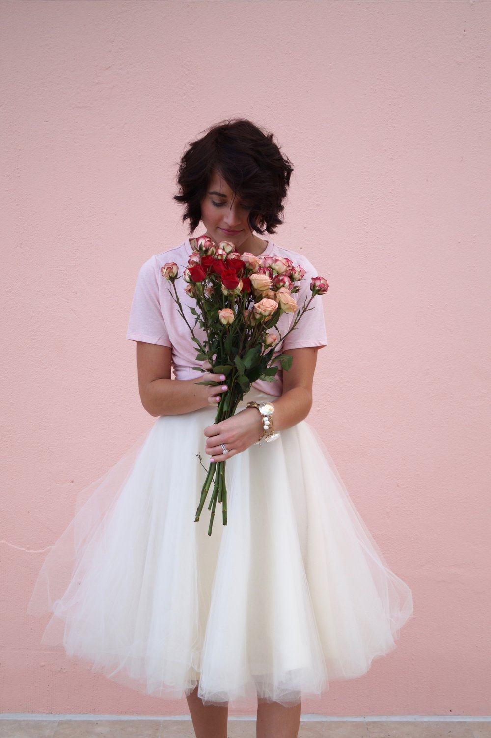 thegoldengirldiary.com valentine's day outfit inspiration, tulle skirt