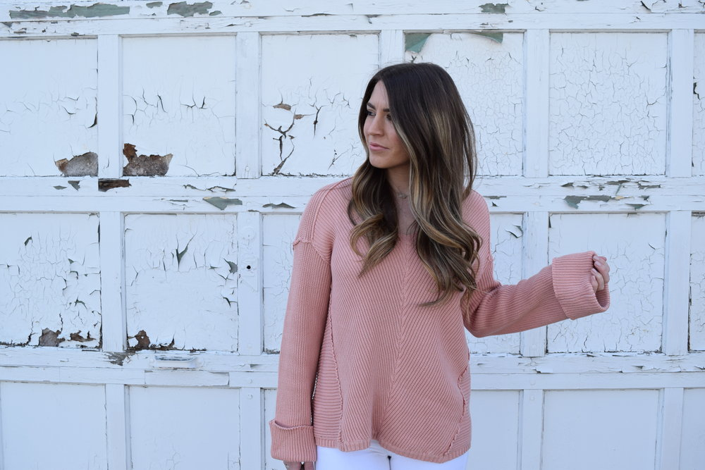 blush sweater for spring