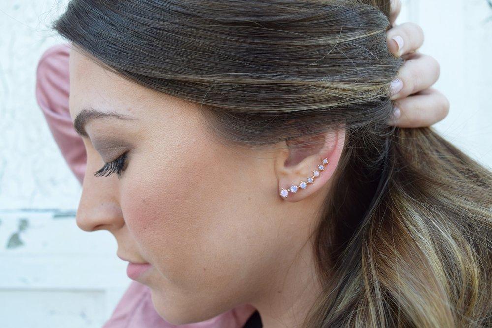 blush pink ear jackets from rocksbox