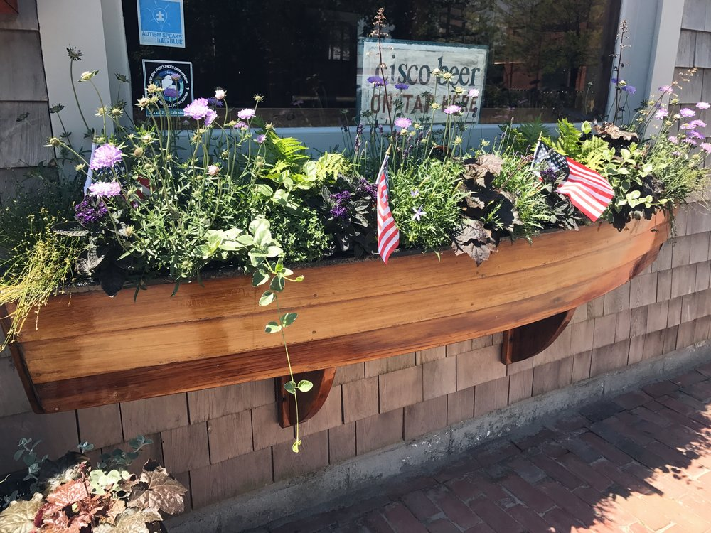 window box / flowers / nantucket travel diary