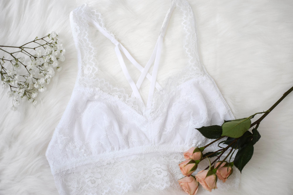 white strappy bralette from kohl's