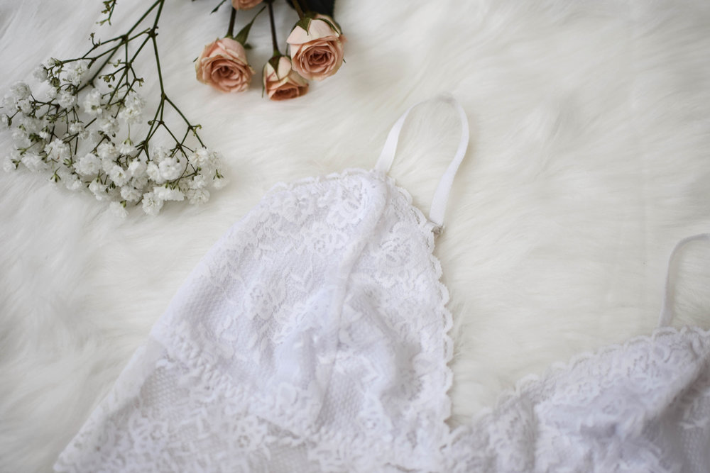 white lace bralette from kohl's