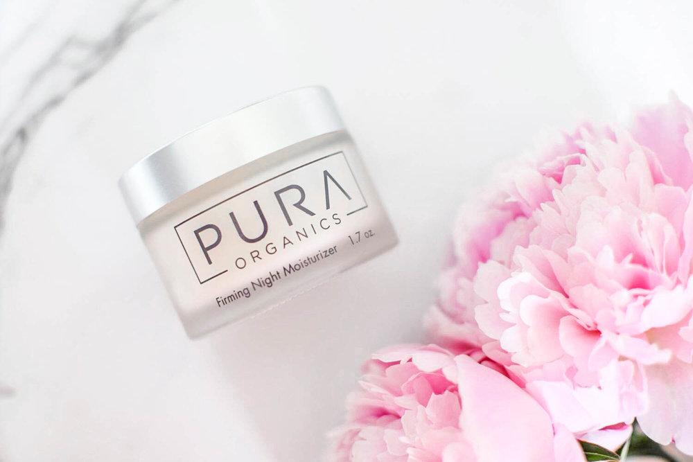 skincare with pura organics // firming night moisturizer