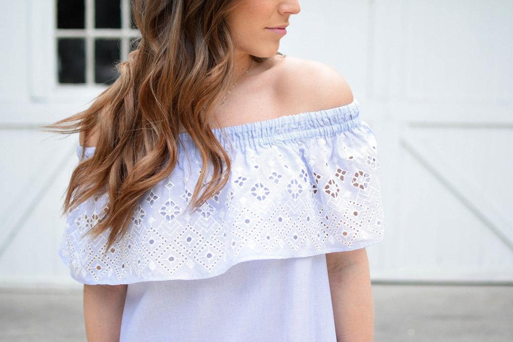 summer outfit idea / eyelet dress / sun dress