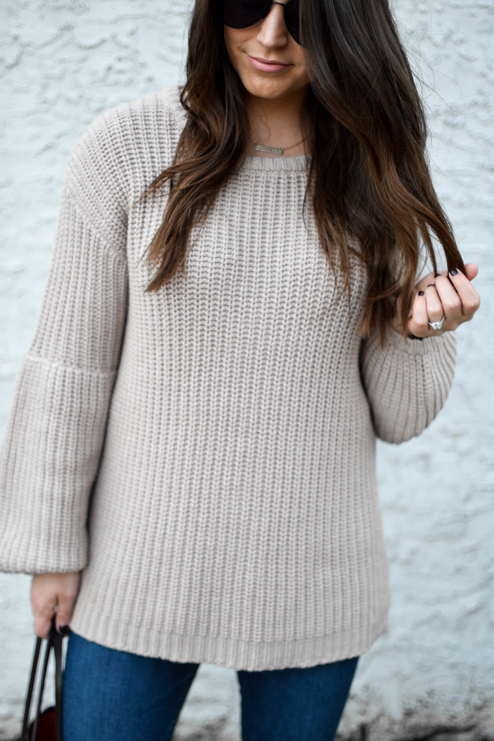fall fashion / fall outfit idea / fall outfit inspiration / cozy sweater / chunky knit / fall feels